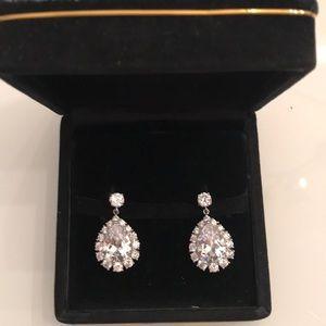 Kenneth Jay Lane CZ teardrop earrings!